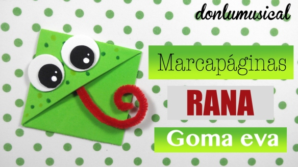 marcapáginas de goma eva bookmarks