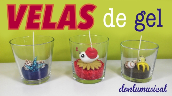 velas de gel decorativas