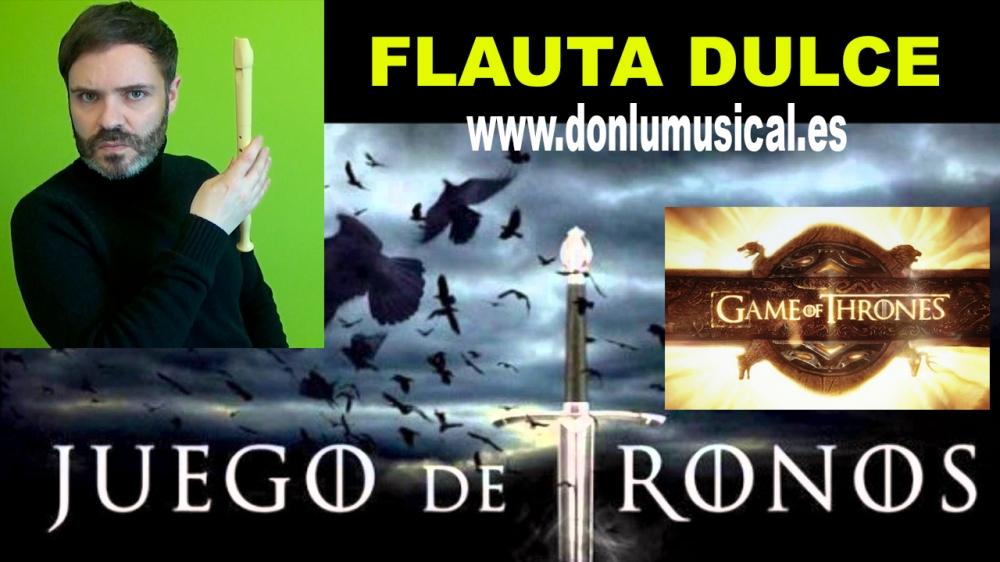 juego de tronos para flauta dulce donlumusical