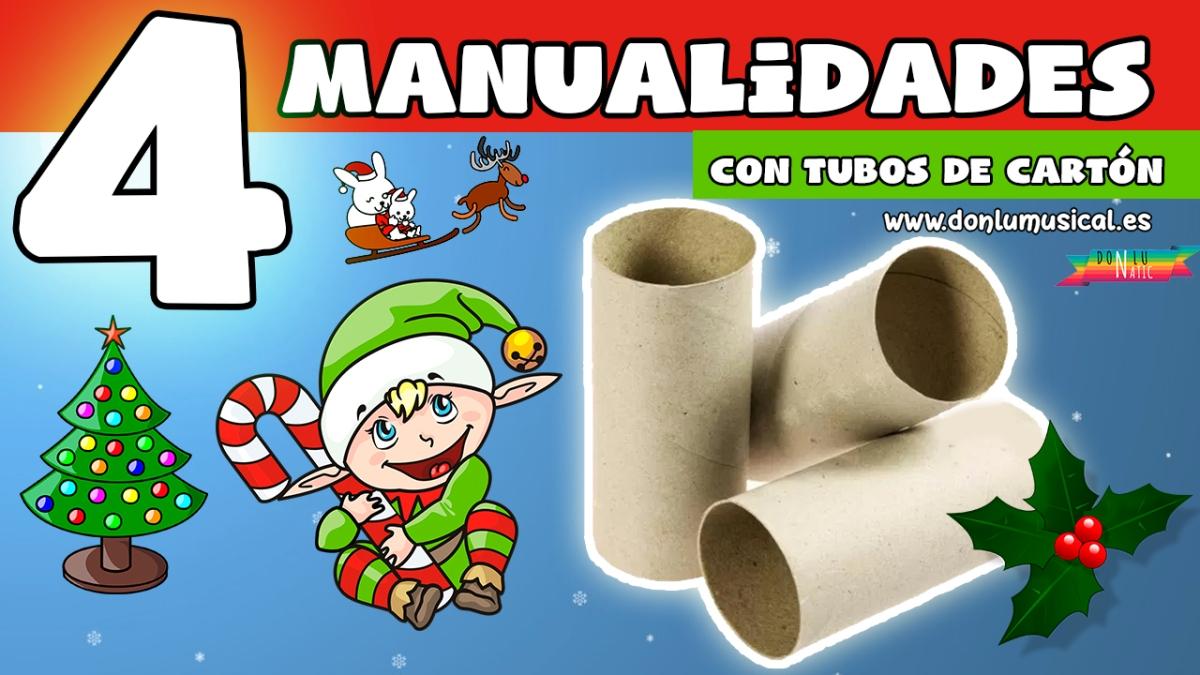 Manualidades para navidad con reciclaje y tubos de papel - Manualidades de navidad con papel ...